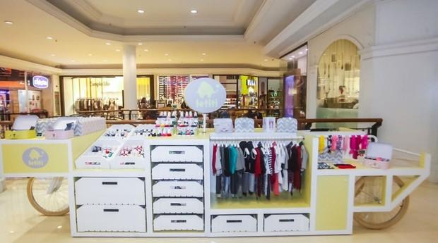 Quiosque da marca Letiti no Shopping Cidade Jardim, em São Paulo (Foto: Divulgação)