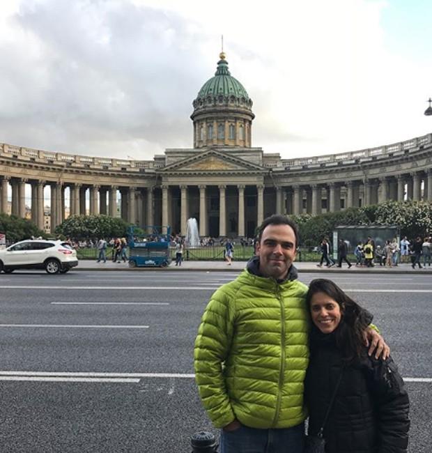 Tadeu Schmidt e a mulher, Ana Cristina (Foto: Reprodução/Instagram)