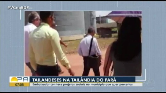 Comitiva da embaixada tailandesa visita a cidade de Tailândia no Pará