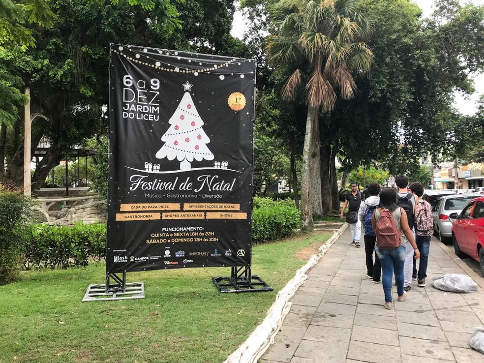 Haverá presença do Papai Noel e show de luzes durante todos os dias do festival — Foto: Renan Liu/Prefeitura de Campos