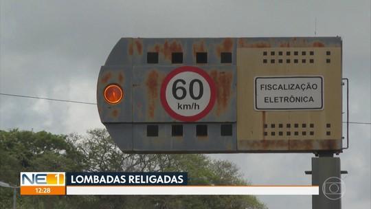 Lombadas eletrônicas são religadas em estradas administradas pelo governo de Pernambuco