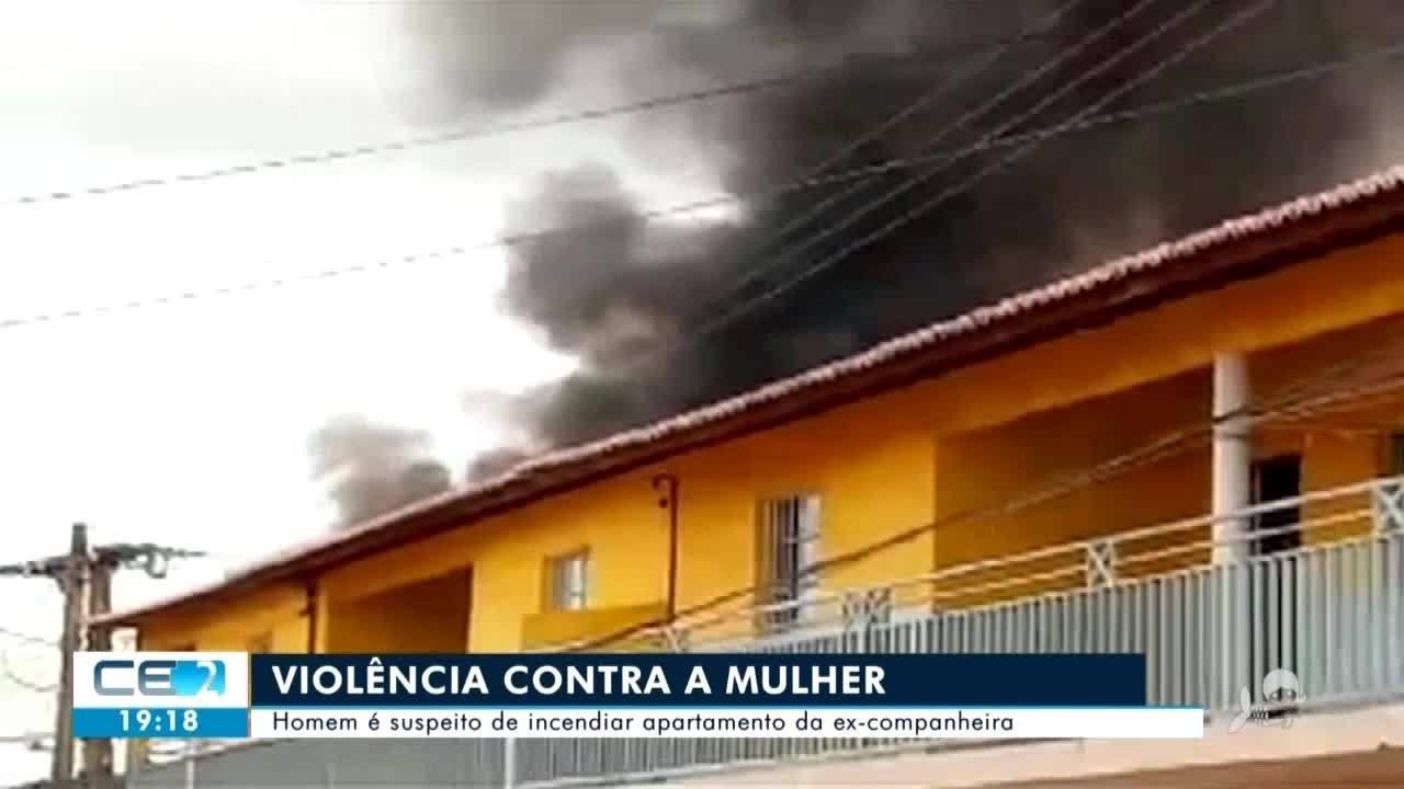 Homem é suspeito de incendiar apartamento da ex-companheira no Crato