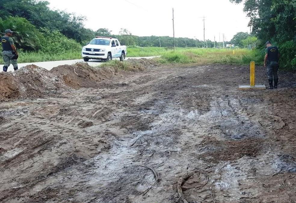 Área é monitorada pela Guarda Ambiental para verificar contaminação (Foto: Divulgação/Prefeitura de Bertioga)