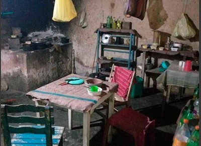 Casebre onde homem foi achado em condições análogas a da escravidão em Entre Rios, na Bahia (Foto: Divulgação/Ministério do Trabalho)