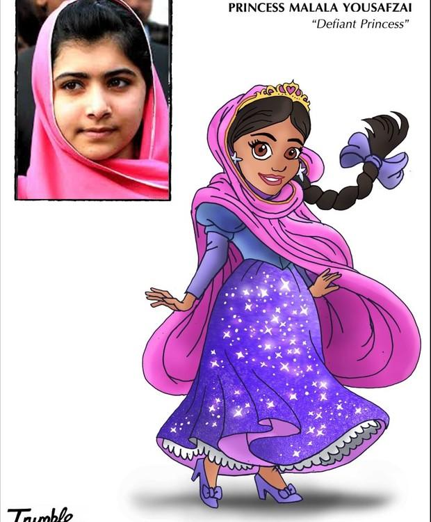 Malala Yousafzai, princesa desafiadora (Foto: Trumble/ Reprodução)