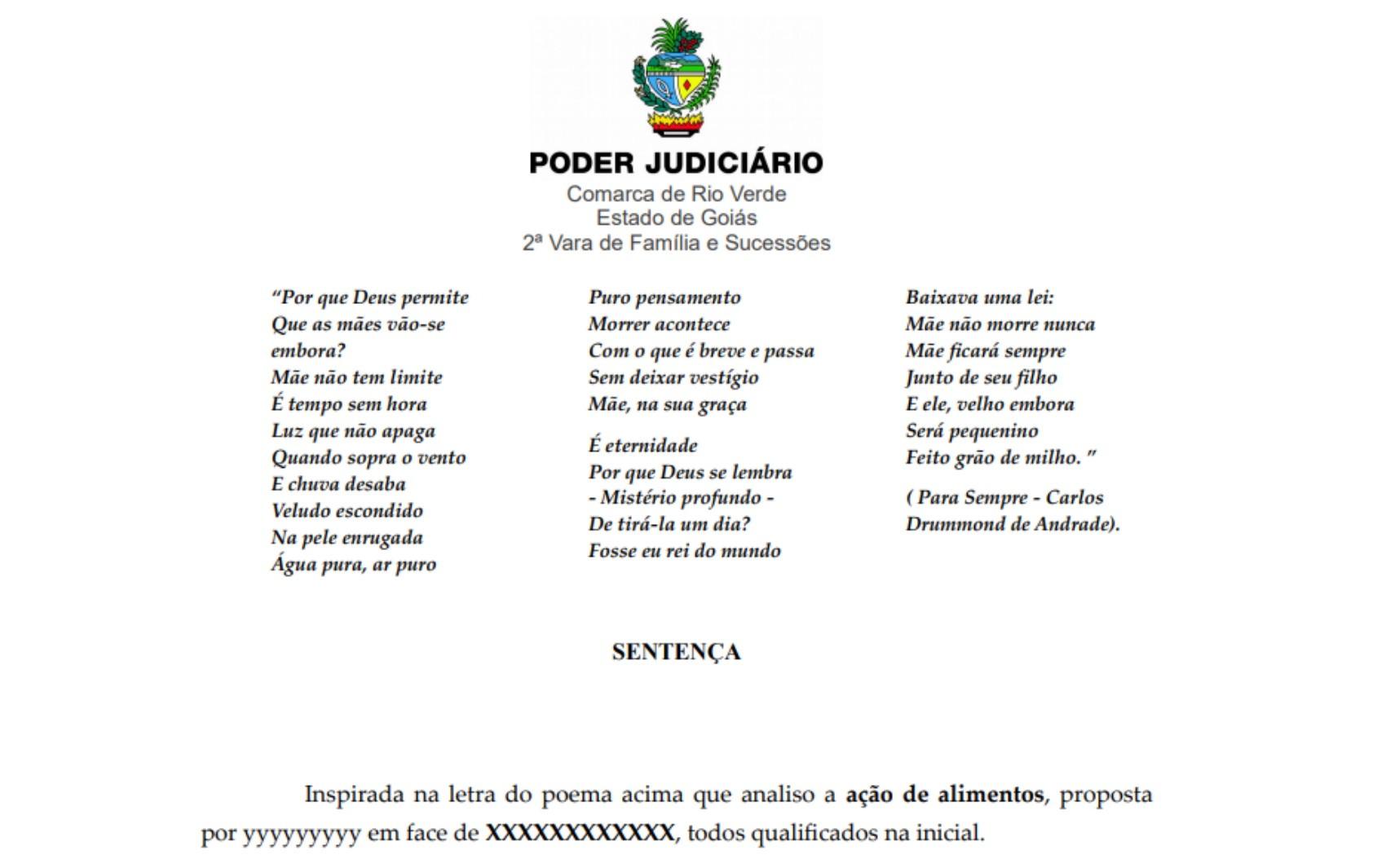Juíza usa poesia em sentença que determina que filhos deem alimentos à mãe idosa e cadeirante:'Mãe não morre nunca'