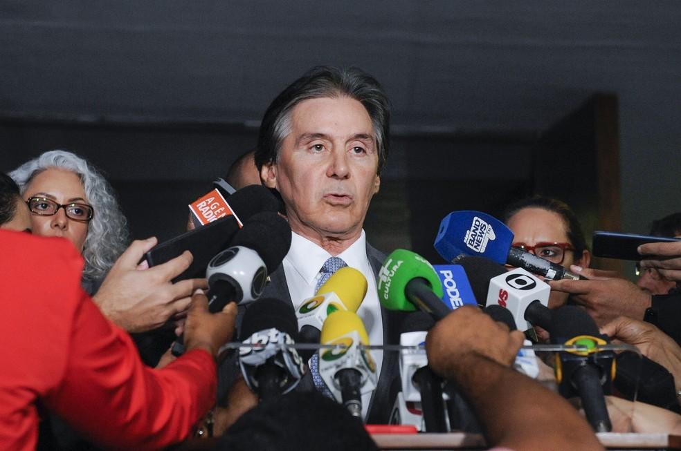 O presidente do Senado, Eunicio Oliveira (MDB-CE). — Foto: Jonas Pereira/Agência Senado