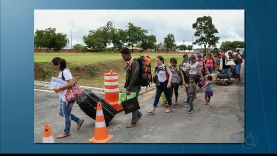 Refugiados venezuelanos chegam à Paraíba e são levados para abrigos