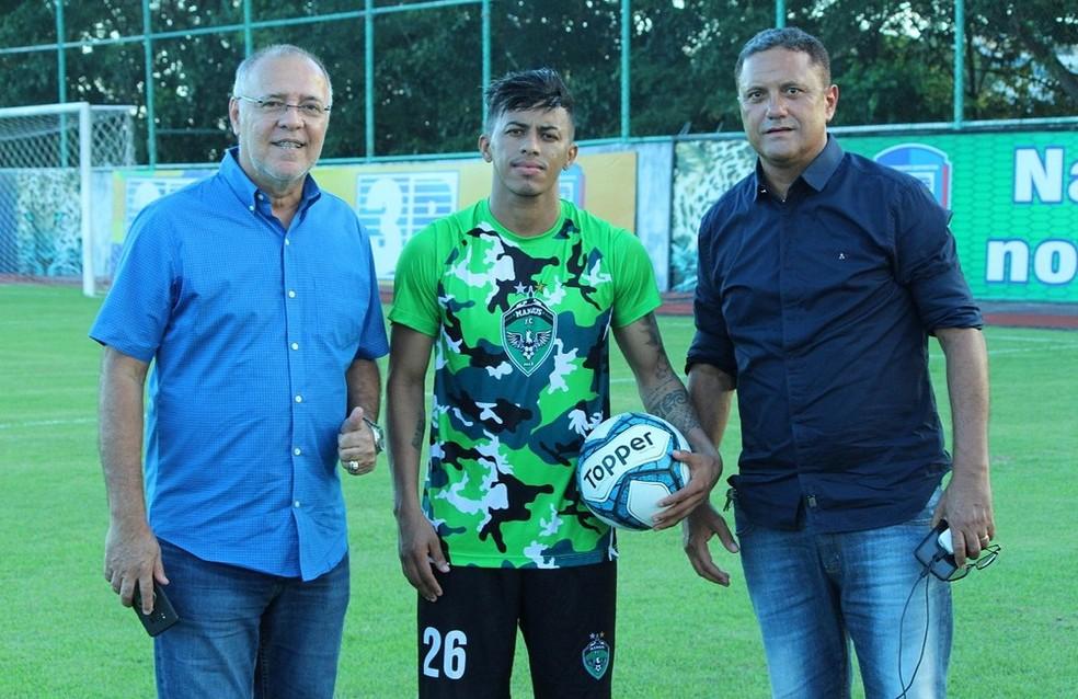 Thiago jogou a Série D do ano passado pelo Manaus — Foto: Emanuel Mendes Siqueira/Manaus