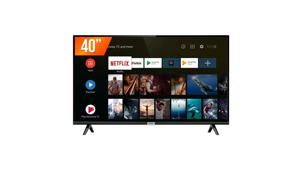 Modelo de TV  da TCL com Android, possui tecnologia embarcada — Foto: Divulgação/TCL