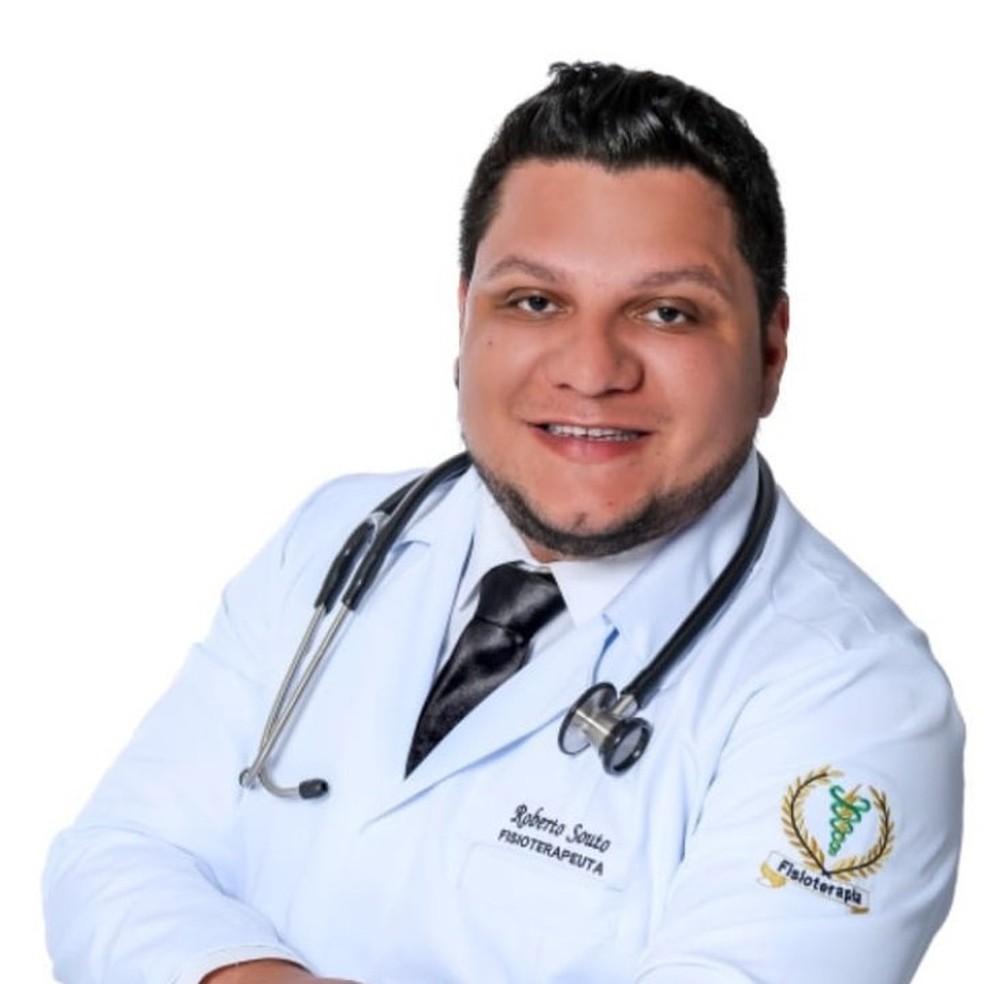 Fisioterapeuta Roberto Souto Cavalcante, de 32 anos, morreu com Covid-19 na última terça-feira (21), primeiro óbito pela doença em Parnamirim, RN — Foto: Redes sociais