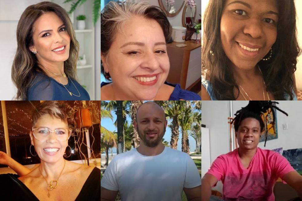 Andrea, Elaine, Hilca, Pipa, Thiago, Vanderson: confira por onde os participantes do primeiro 'No Limite' andam — Foto: Arquivo pessoal
