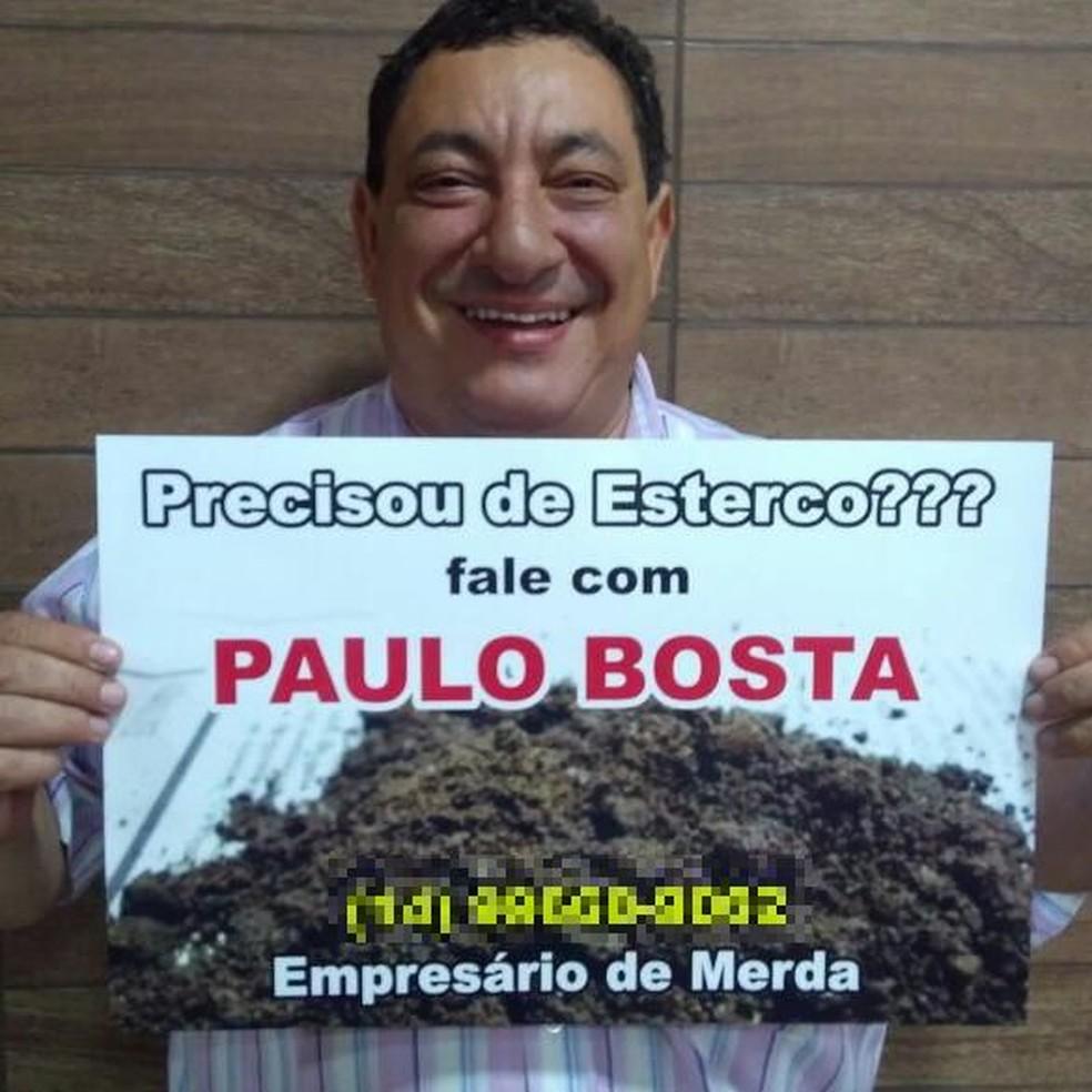 Representante criou um slogan inusitado que viralizou nas redes sociais (Foto: Paulo Silvestre / Arquivo pessoal )