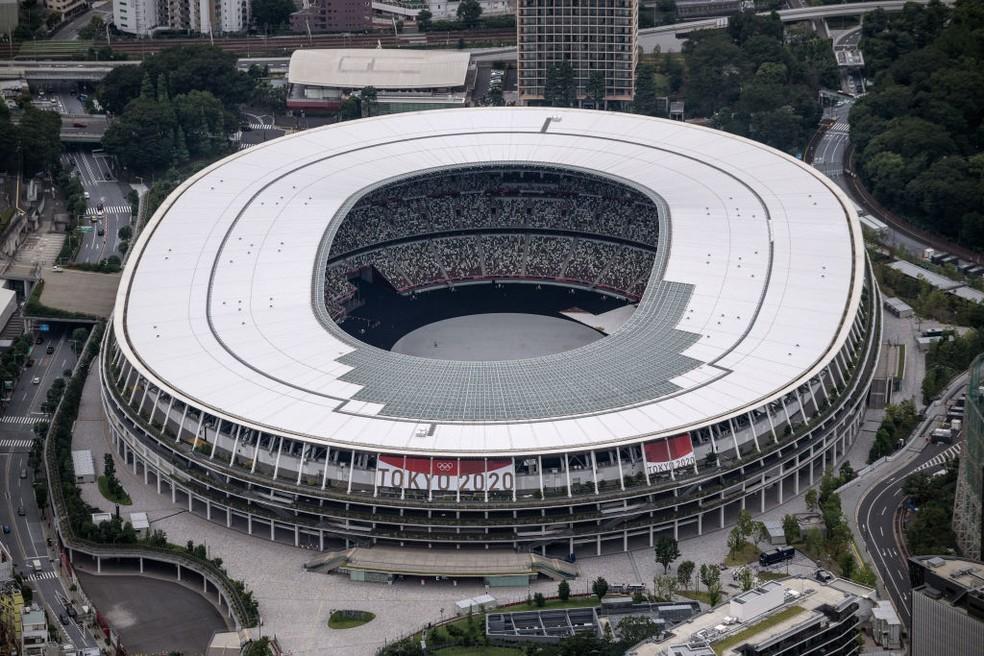Estádio Olímpico de Tóquio recebe a cerimônia de abertura e também de encerramento dos Jogos — Foto: Carl Court/Getty Images