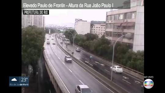 Elevado Paulo de Frontin tem trânsito bom e é opção para acessar a Linha Amarela