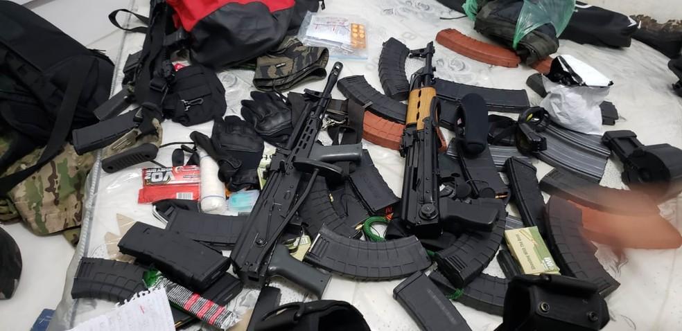 Polícia Civil de Jaú apreendeu em fevereiro deste várias armas que podem ter sido usadas no crime de 2019 — Foto: Polícia Civil/Divulgação