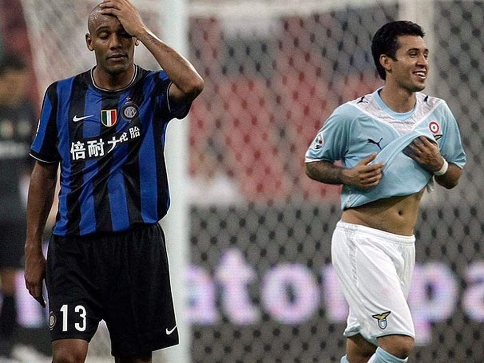 Lazio de Matuzalém levou a melhor em duelo contra a Internazionale de Maicon, Julio Cesar e Lúcio em 2009 — Foto: Arquivo pessoal