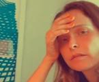 Fernanda Rodrigues aparece cansada durante aulas on-line do filho | Reprodução