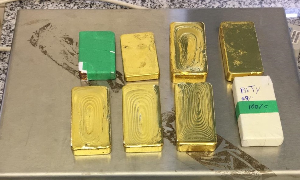 Produto recolhido pela Polícia Federal na operação Ouro Perdido  — Foto: PF/Divulgação