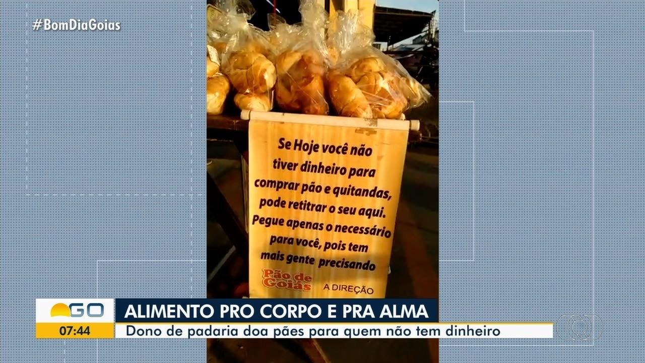 Dono de padaria doa pães para quem não tem dinheiro, em Goiânia