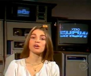 'Video show', que estreou na Globo em 1983, chegará ao fim na sexta-feira. Tássia Camargo foi a primeira apresentadora | Reprodução