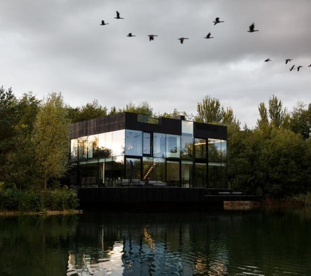 Casa que flutua: fachada (Foto: María Barricart/Mecanoo/Reprodução)