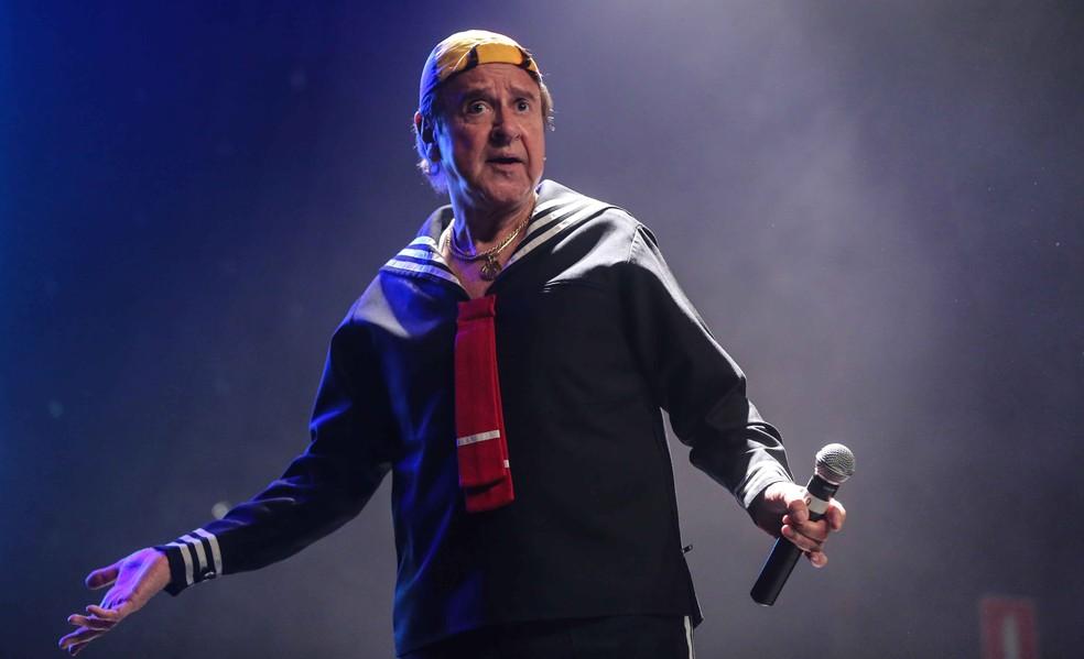 Carlos Villagrán se apresenta como Quico, personagem de 'Chaves' (Foto: Vanessa Carvalho/ AFP Arquivo)