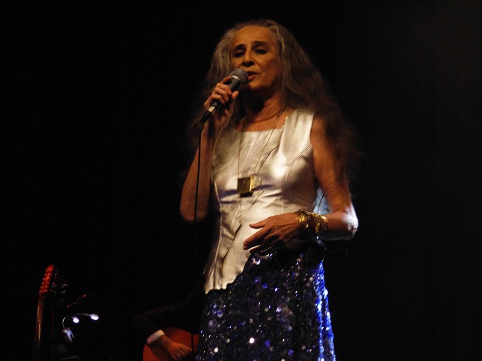 Maria Bethânia na gravação do DVD (Foto: Mauro Ferreira)