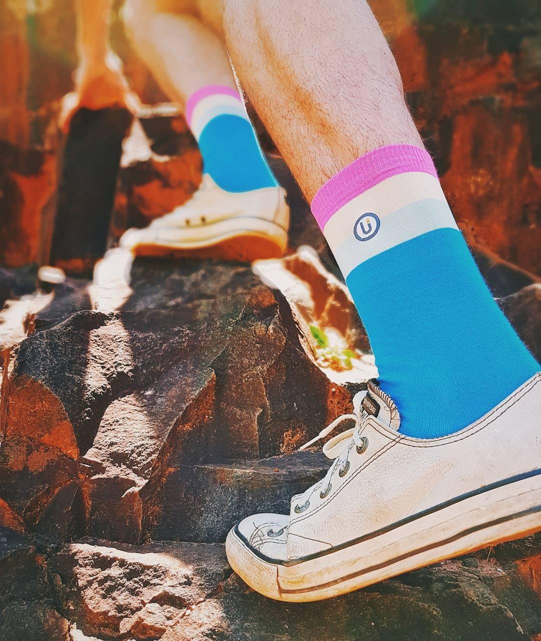Uma das meias da Underful (Foto: Reprodução/Instagram)