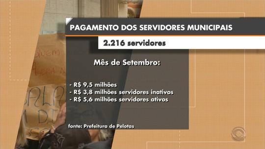 Prefeitura de Pelotas paga hoje o restante dos salários atrasados dos municipários