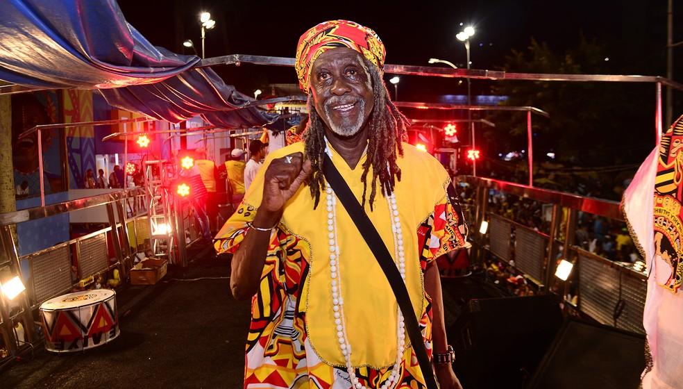 Vovô do Ilê é presidente e fundador do bloco afro. — Foto: Sérgio Pedreira/Ag. Haack