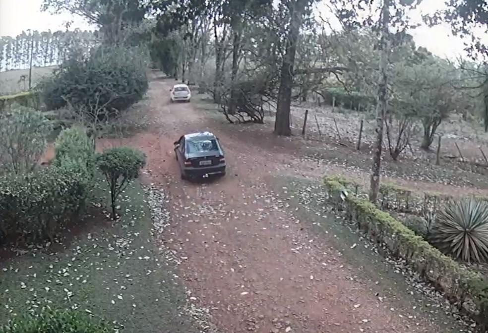 Polícia identificou veículo utilizado no furto em Bernardino de Campos — Foto: Polícia Civil/Divulgação