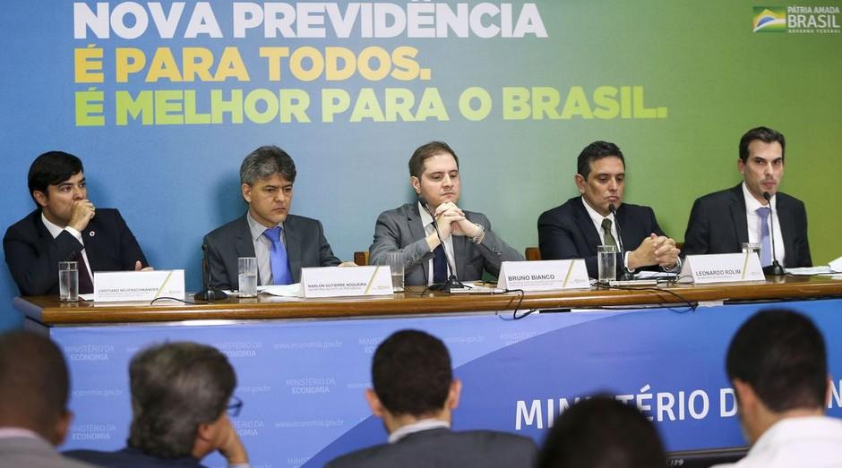 Anúncio da reforma da Previdência, por parte do governo federal (Foto: Reprodução/Agência Brasil)