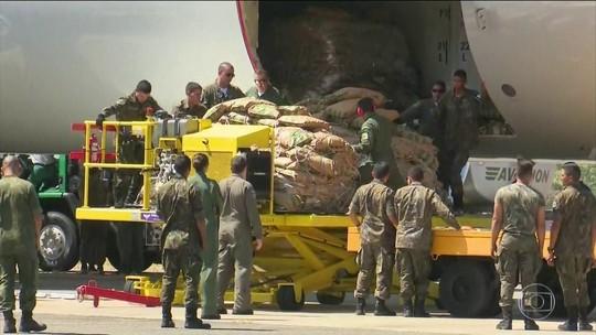 Ajuda humanitária enviada pelo Brasil chega a Boa Vista