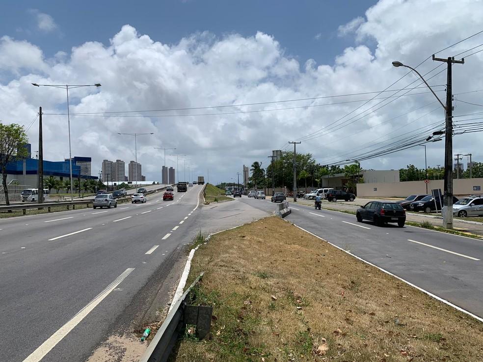 Acesso próximo ao viaduto de Neópolis, em Natal, será fechado, a partir desta quarta-feira (23) — Foto: Dnit/Divulgação