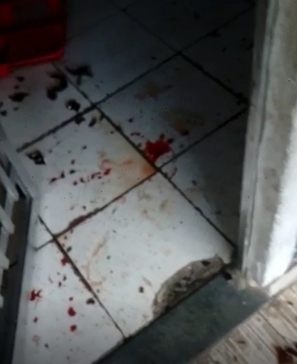 Casa onde as vítimas foram agredidas — Foto: Reprodução/Arquivo Pessoal