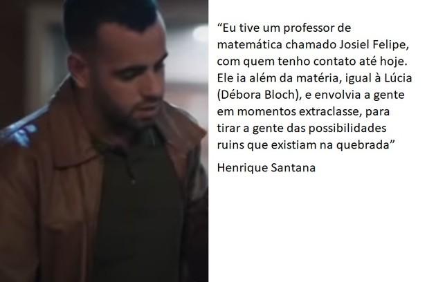 Henrique Santana ('Pico da Nelbina') está na segunda temporada da série. Ele cresceu numa área carente de São Paulo e estudou em escolas públicas (Foto: TV Globo)