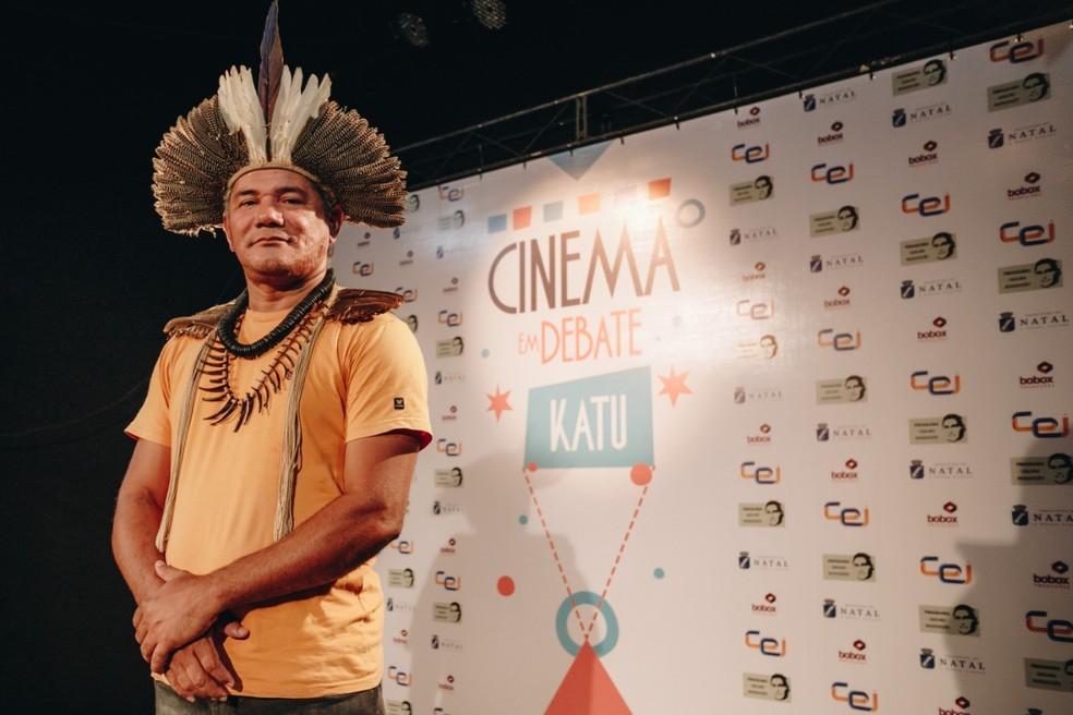 Projeto leva filme sobre os povos indígenas potiguares para o ambiente escolar — Foto: Burnno Martins/Divulgação