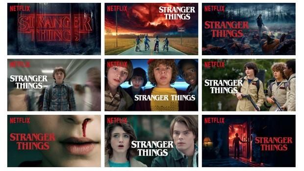 Algumas das variações da imagem de chamada da série Stranger Things (Foto: Reprodução)