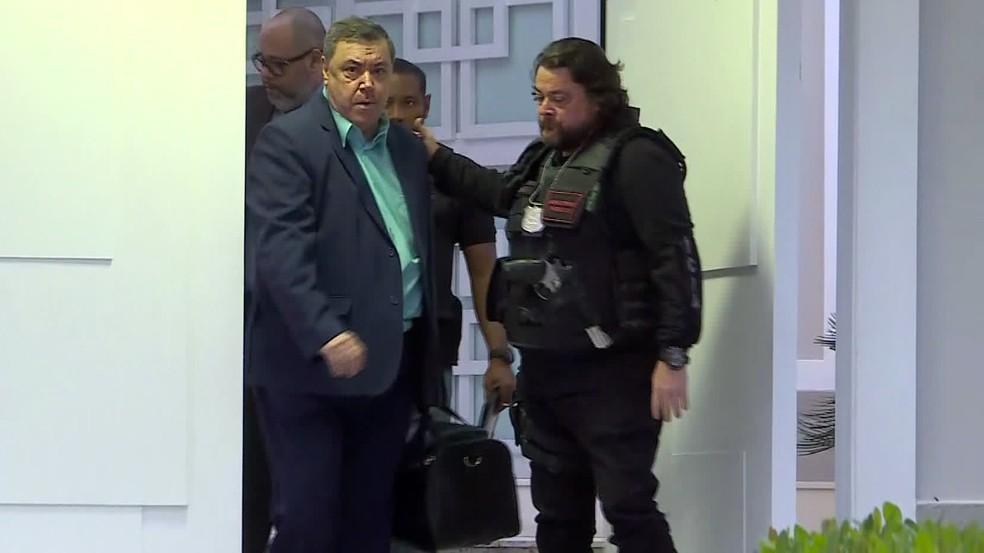 O contador Luiz Felipe da Conceição Rodrigues foi preso na Barra da Tijuca — Foto: Reprodução/GloboNews