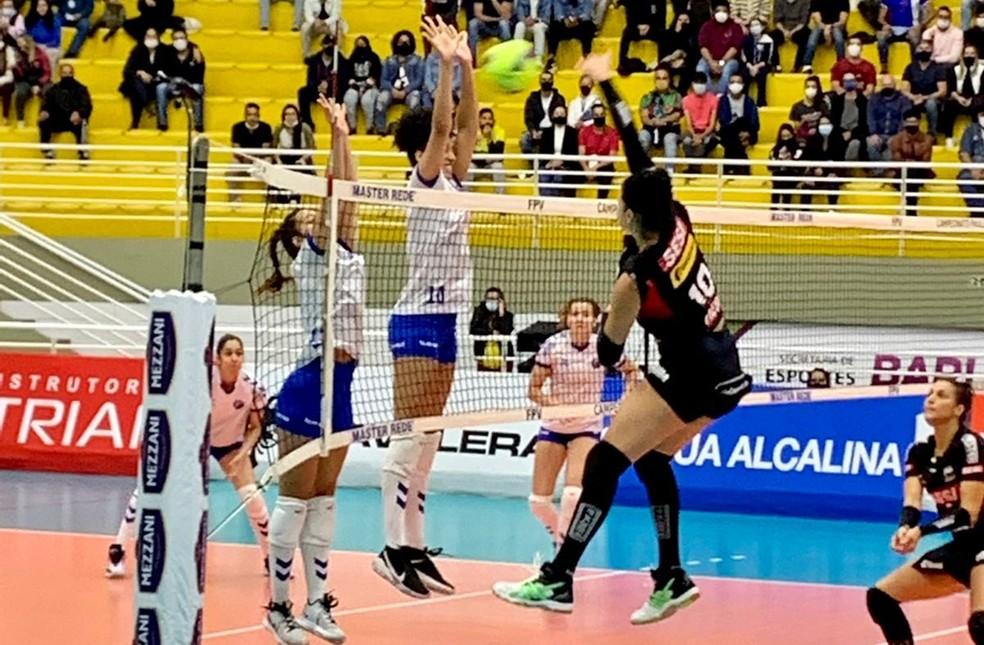 O Barueri teve atuação impecável e venceu o Sesi-Bauru com autoridade no segundo jogo da semifinal do Paulista — Foto: Divulgação/Sesi-Bauru