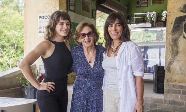 Bianca Bin, Laura Cardoso e Glória Pires