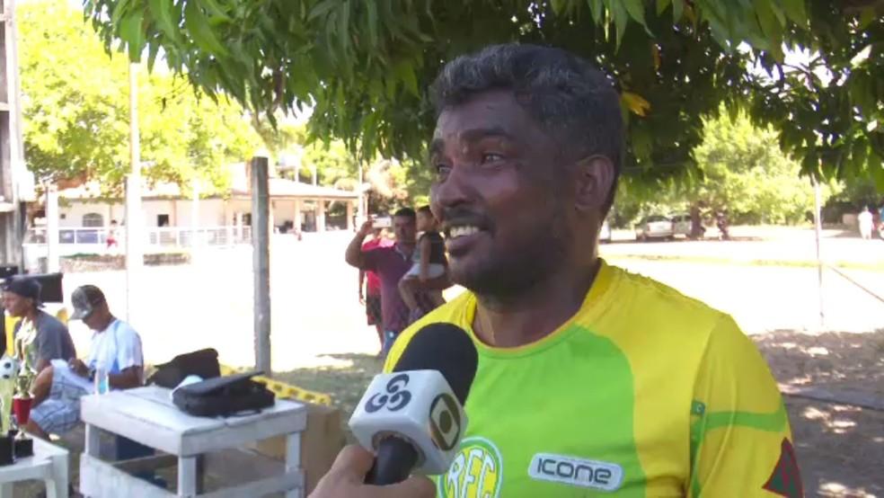 O atacante Nego Sérgio terminou como o artilheiro do torneio — Foto: Rede Amazônica Roraima/Reprodução