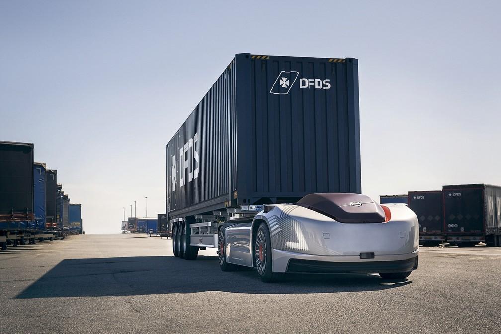 Conceito de caminhão autônomo da Volvo — Foto: Divulgação