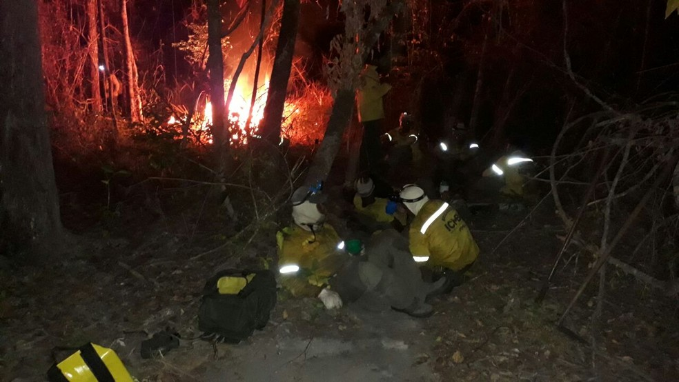 Incêndios simultâneos baixa eficácia do combate e disponibilidade parcial da aeronave foram decisivos (Foto: Acervo Parque Nacional do Araguaia/ ICMBio)