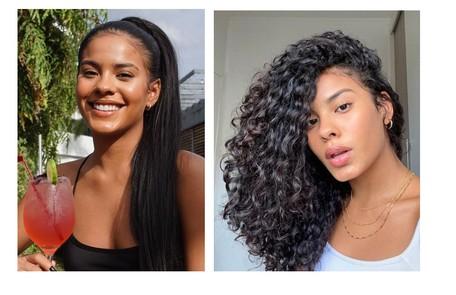 Bella Campos, que fará a Muda, deixou de alisar o cabelo e manteve os cachos naturais Reprodução