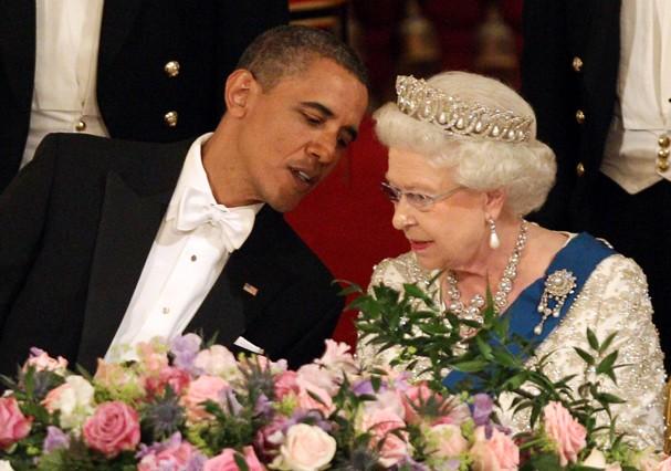 Rainha Elizabeth II e Obama (Foto: Getty Images)
