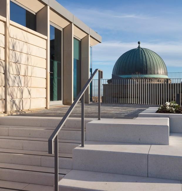 Os diferentes níveis dos novos prédios oferecem novos ângulos das paisagens (Foto: Tom Nolan e Susie Lowe./ Reprodução)
