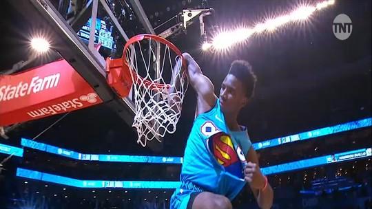 Calouro do Thunder, Hamidou Diallo salta Shaquille O'Neal e vence o Torneio de Enterradas