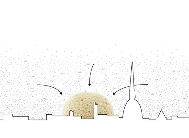 O solo planejado funcionaria como uma esponja para reter CO2 (Foto: Designboom/ Reprodução)